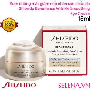 Shiseido Benefiance Wrinkle Smoothing Eye Cream tăng đàn hồi săn chắc, giảm vết nhăn đuôi mắt, giảm vết chân chim, cho da mắt tươi trẻ sáng màu