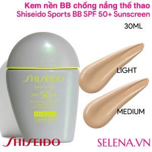 Kem nền BB chống nắng Shiseido Sports BB SPF 50+ Sunscreen