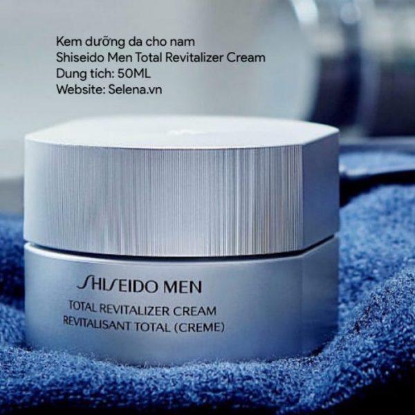 Kem dưỡng da cho nam Shiseido Men Total Revitalizer Cream bảo vệ da mặt lớp rào chắn tự nhiên của làn da chống lại tổn thương dưỡng ẩm chống chảy xệ