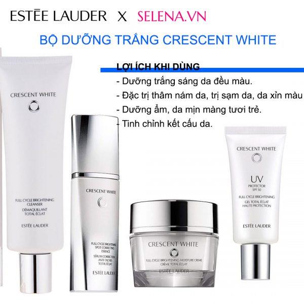 Trọn bộ dưỡng da đặc trị thâm nám sáng da Estee Lauder Crescent White