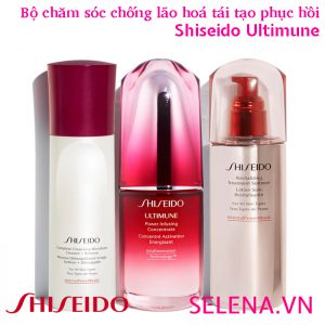 Bộ chăm sóc chống lão hoá tái tạo phục hồi da Shiseido Ultimune (3 món)