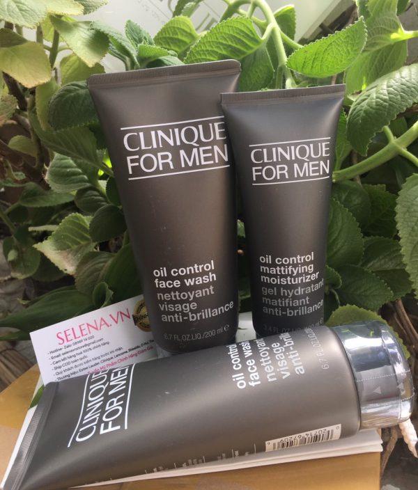 Bộ chăm sóc da dành cho Nam Giới có da dầu: làm sạch da toàn diện , kiềm dầu, dưỡng ẩm suốt 72 giờ