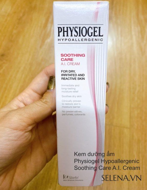 Kem dưỡng ẩm Physiogel dùng hằng ngày phù hợp cho da khô, da nhạy cảm, da mẫn đỏ, da bị ngứa