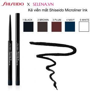 Kẻ viền mắt Shiseido Microliner Ink kẻ mí mắt dạng gel siêu nhỏ với công thức mỏng nhẹ tựa không lướt qua mi mắt với độ chính xác tối đa để mang lại đường kẻ mực không lem, chống thấm nước, bền màu kéo dài đến 24 giờ.
