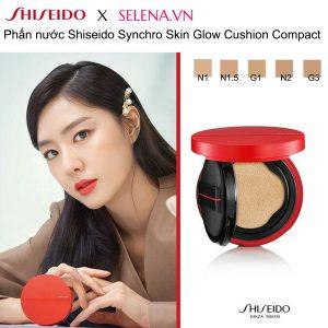 Phấn nước Shiseido Synchro Skin Glow Cushion Compact phấn nước thông minh đầu tiên. Chỉ cần vỗ nhẹ để cung cấp độ ẩm và mang đến một nền da tươi sáng, rạng rỡ.