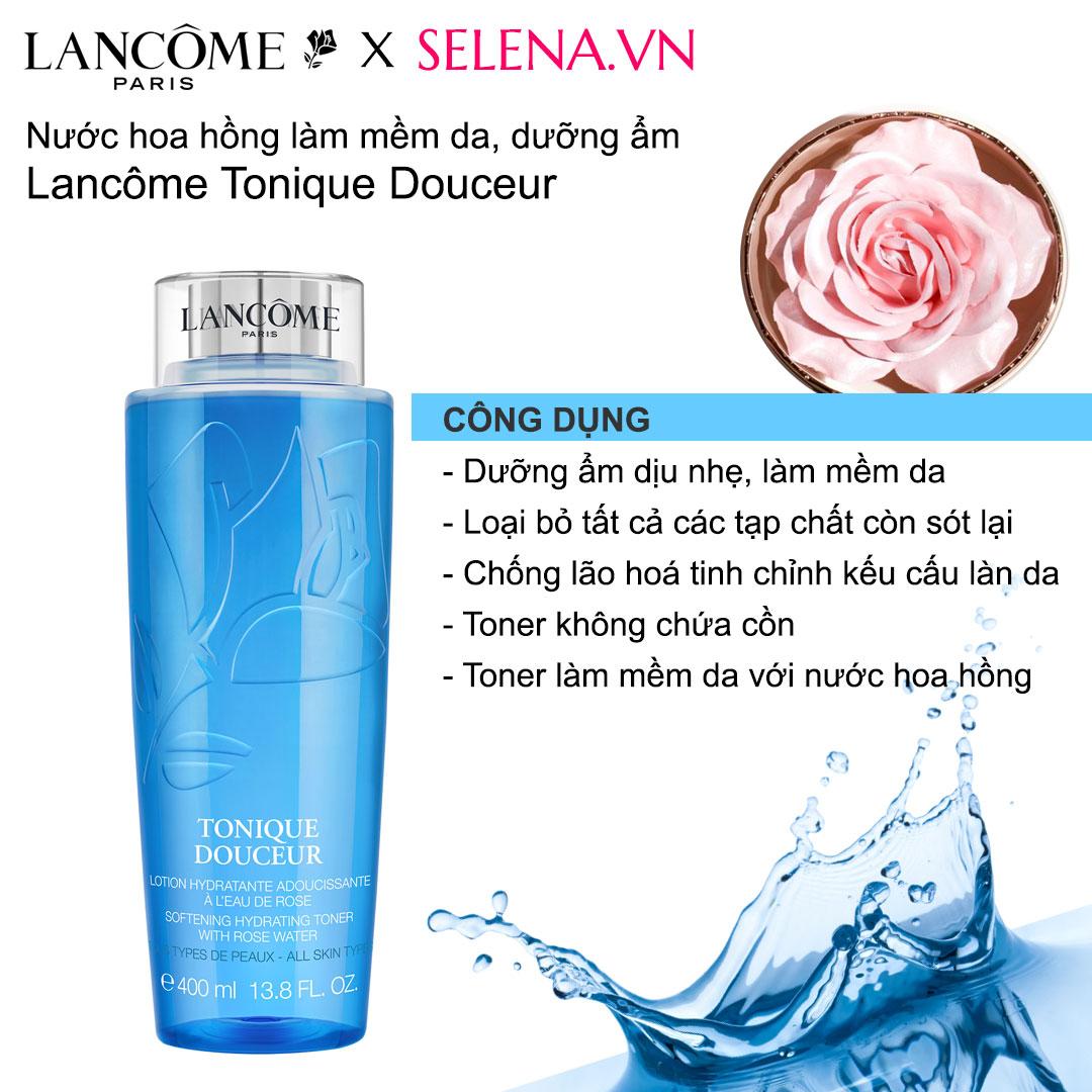 Nước hoa hồng mềm da dưỡng ẩm Lancôme toner