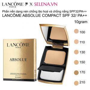 Phấn nền dạng nén chống lão hoá và chống nắng Lancôme Absolue Compact SPF 32/ PA++