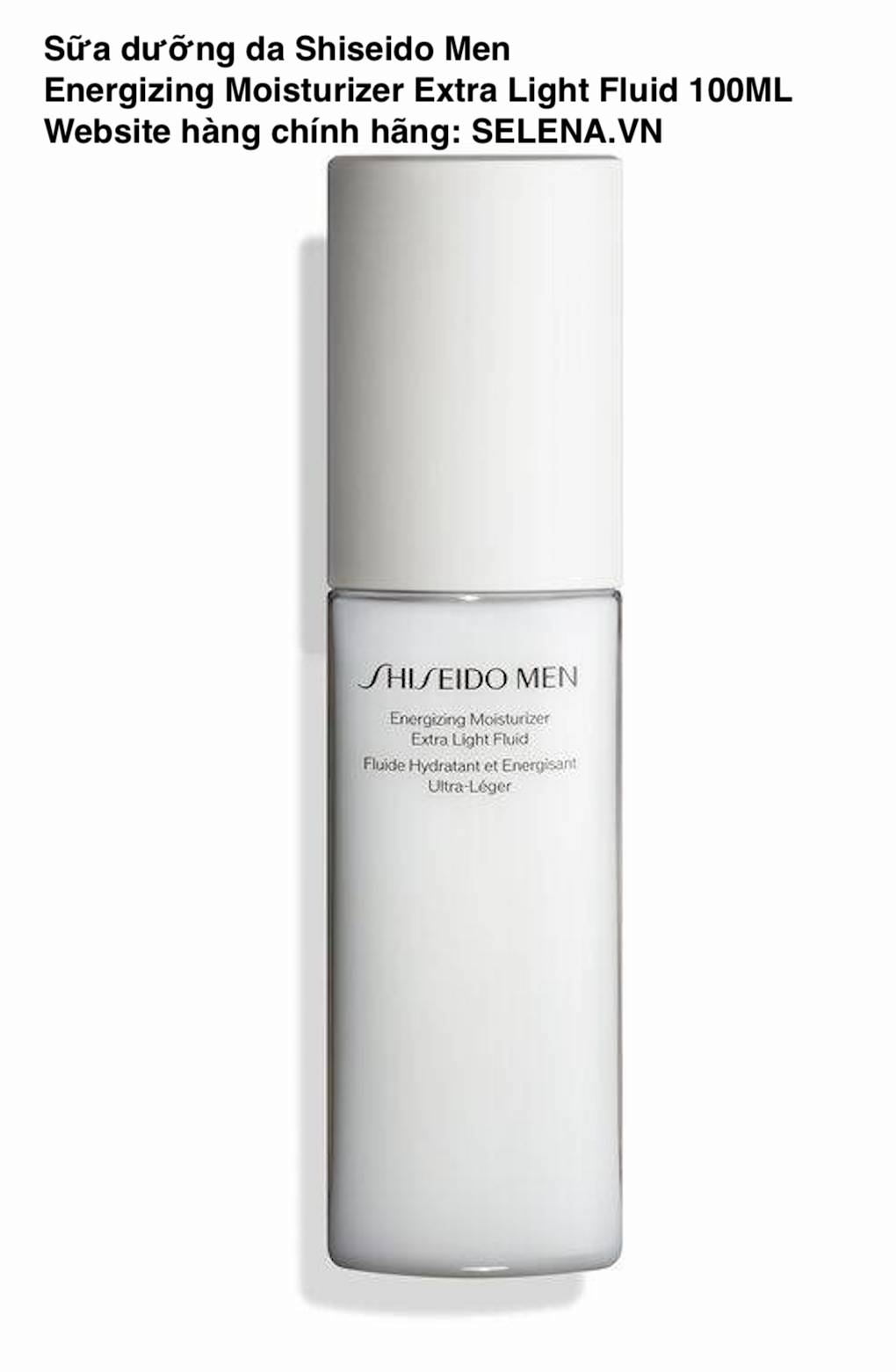 Sữa dưỡng da Shiseido Men Energizing Moisturizer Extra Light Fluid dưỡng ẩm suốt 32 giờ giúp giảm nếp nhăn, xỉn màu và khô da